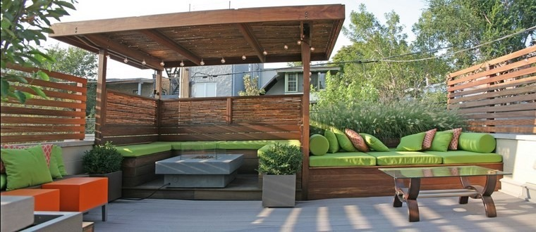Muebles de exterior 39 ideas para el aire libre - Bancos para exterior ...