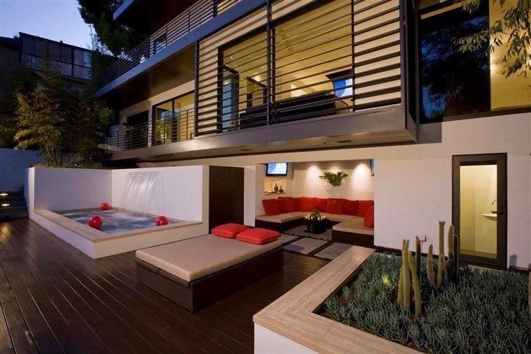 muebles de exterior cama jacuzzi ideas