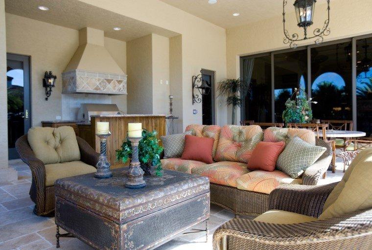 muebles de exterior cocina aire libre rustico ideas