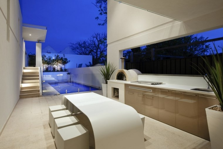 muebles de exterior color blanco contemporaneo ideas