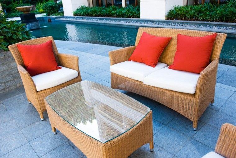 Muebles de exterior 39 ideas para el aire libre - Cojines muebles exterior ...
