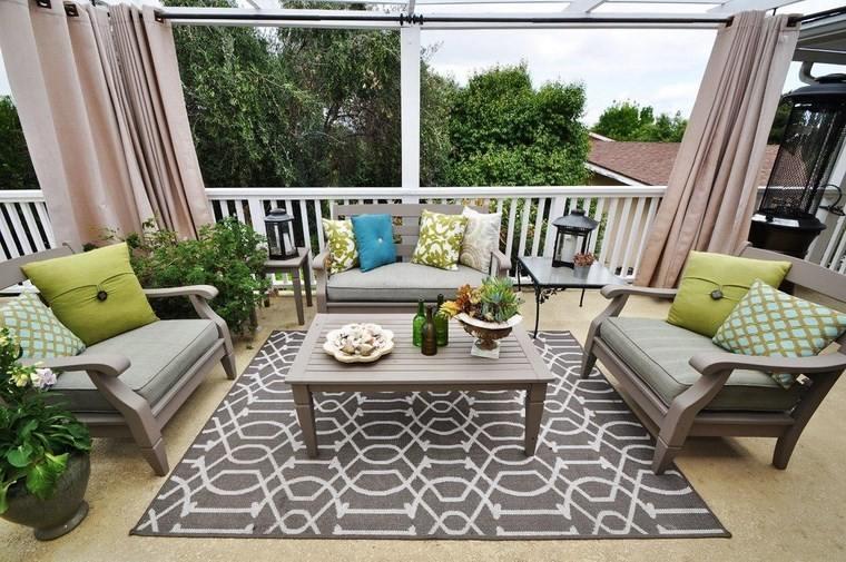 Muebles de exterior 39 ideas para el aire libre - Alfombras para exterior ...