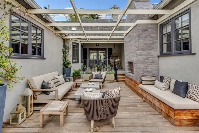 Muebles de exterior 39 ideas para el aire libre - Sillon madera exterior ...