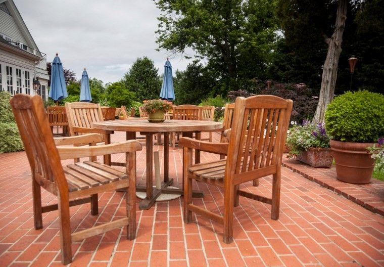 Muebles de exterior 39 ideas para el aire libre - Mesas de madera para exterior ...