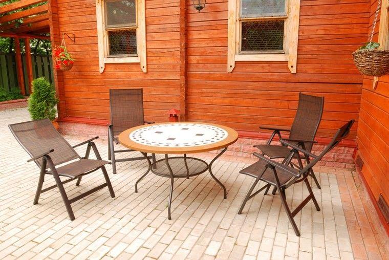 muebles exterior mesa encimera preciosa ideas