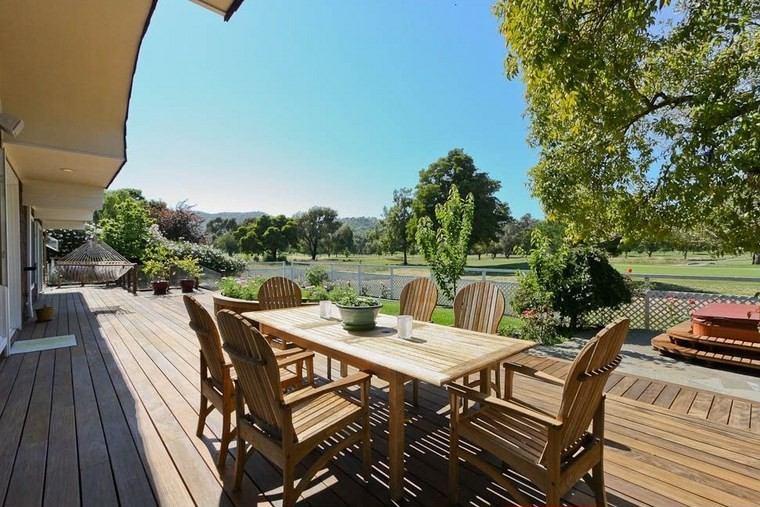 muebles exterior mesa sillas comidas madera ideas