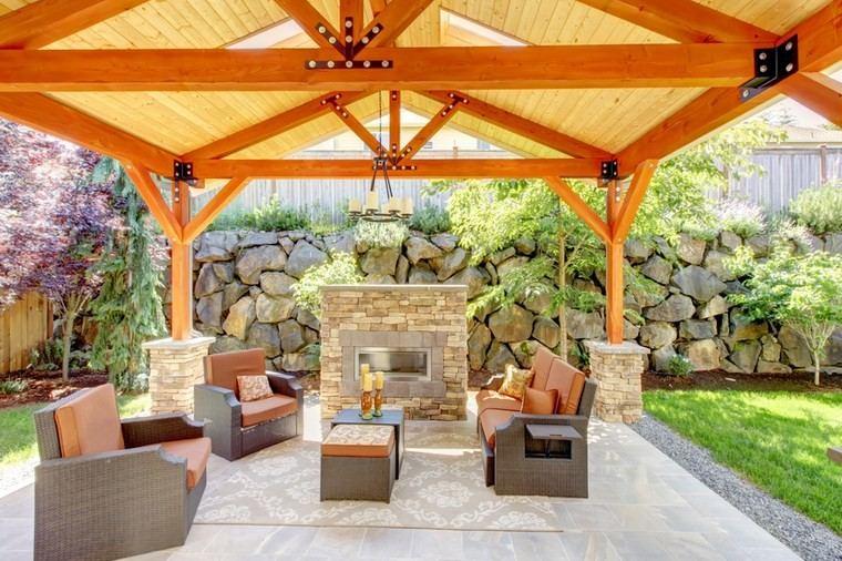 muebles exterior pergola madera grande ideas