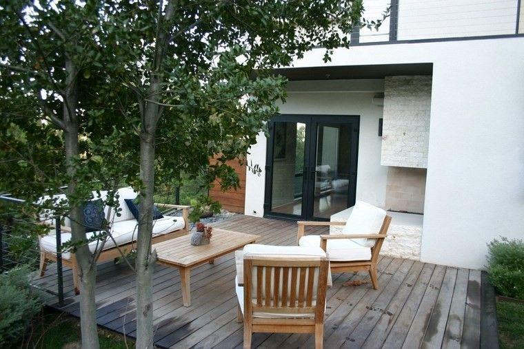 Muebles de exterior 39 ideas para el aire libre for Sillones de madera para exterior