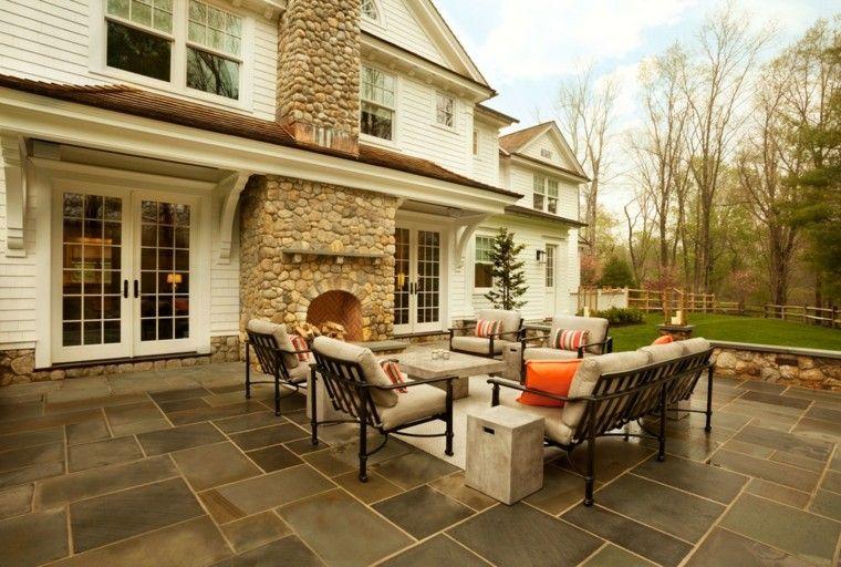muebles de terraza y jardin acero negro mesa marmol