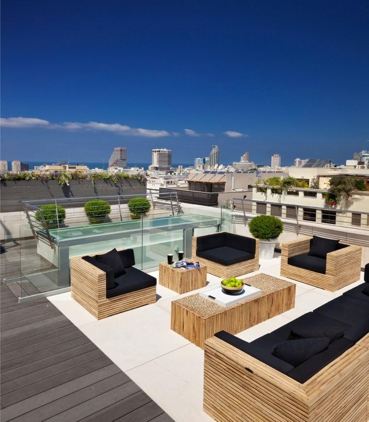 Muebles de terrazas de diseño moderno - 38 diseños