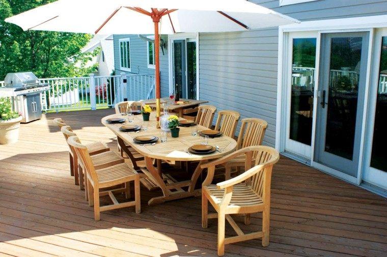 Muebles de terrazas de dise o moderno 38 dise os for Muebles para terraza en madera