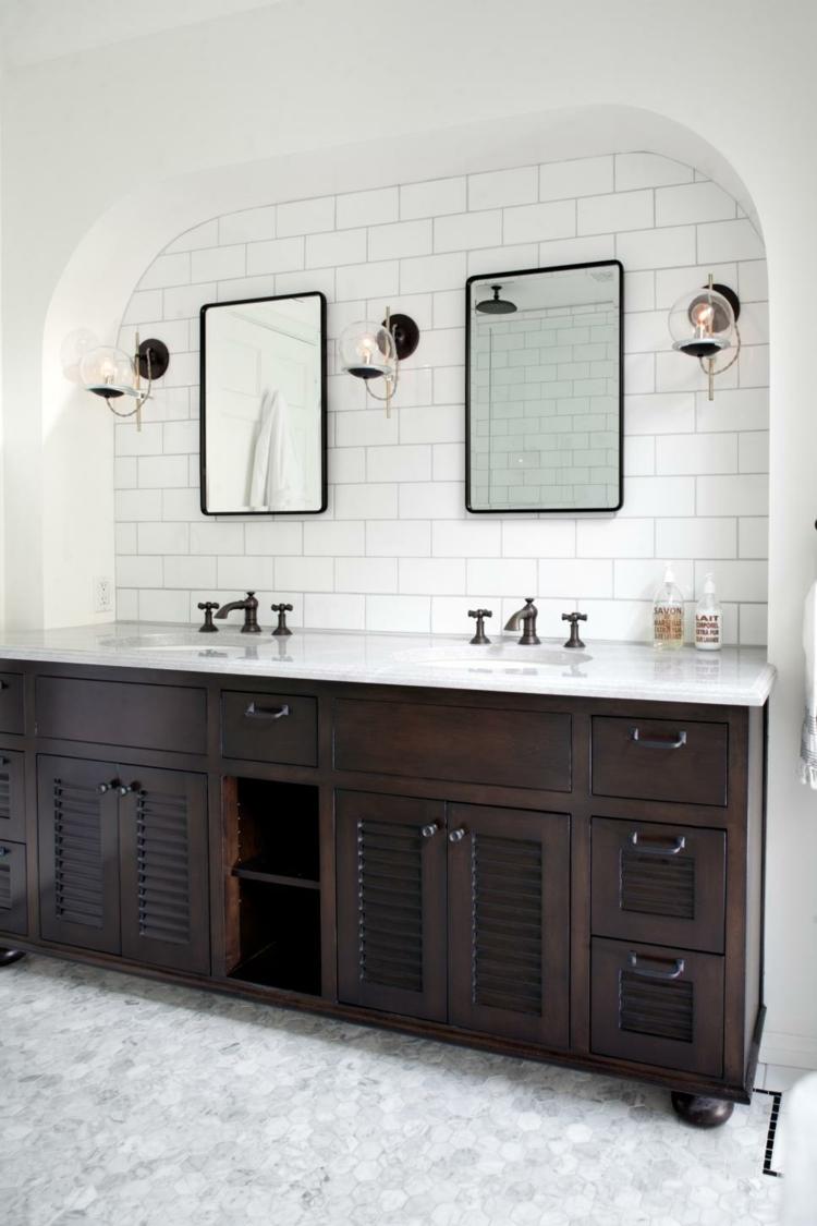 muebles diferente variaciones diseños ladrillos espejos