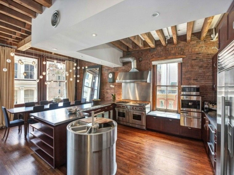 muebles-diseno-original-cocina-moderna-acero