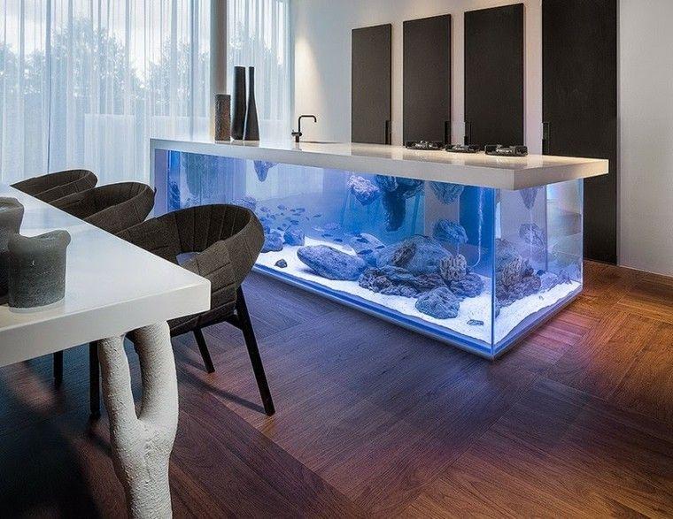 muebles diseno original cocina moderna acuarium ideas