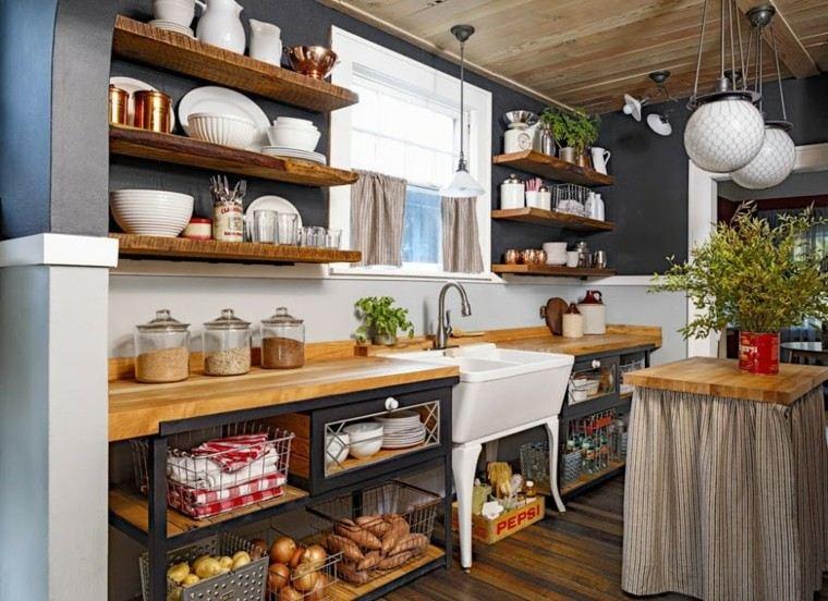 muebles diseno original cocina moderna azul ideas