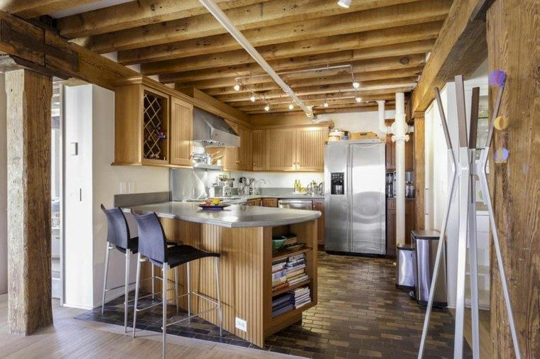 muebles diseno original cocina moderna madera ideas