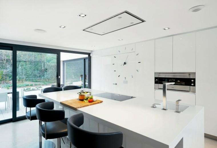 Muebles de cocina modernos para presumir - Relojes cocina modernos ...
