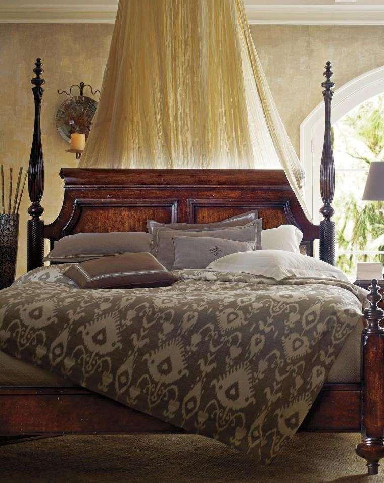 cama madera estilo colonial