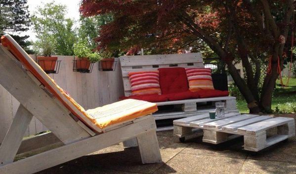 sillon terraza tumbona palet