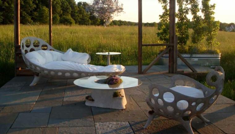 Muebles de terrazas de dise o moderno 38 dise os for Muebles jardin diseno