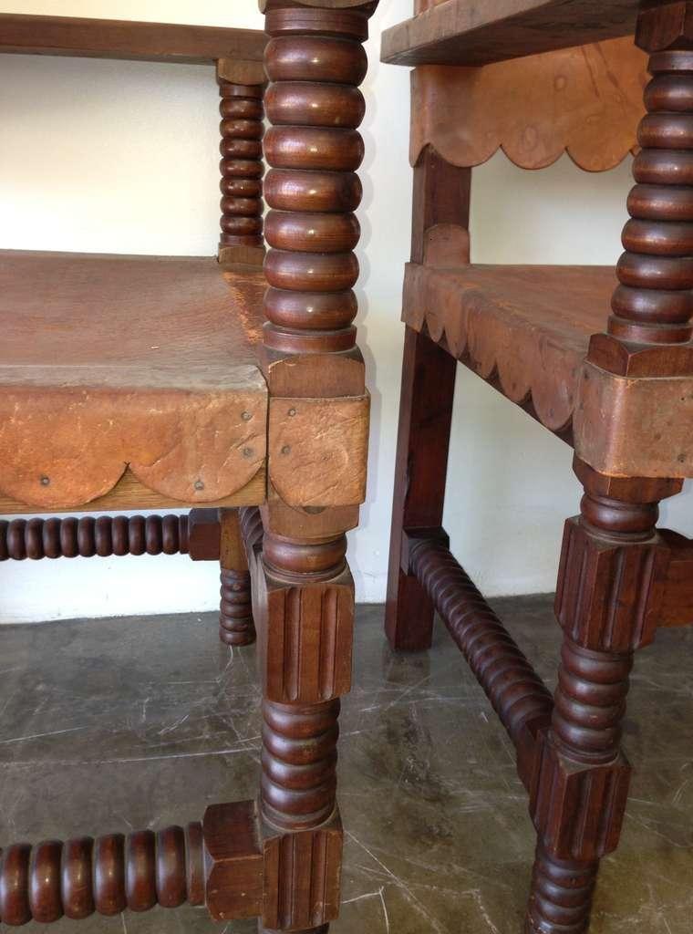 sillas madera tapizado piel
