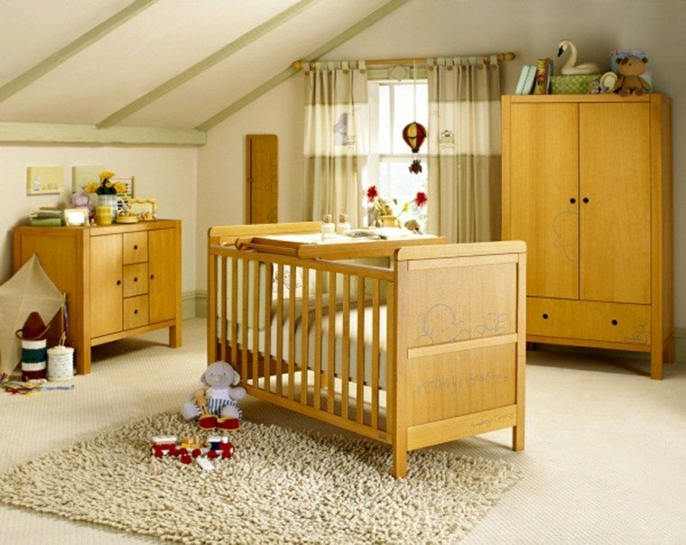 muebles madera habitación bebe