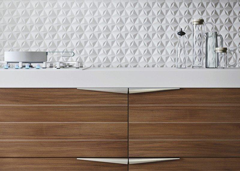 muebles cocina modernos salpicadero relieve
