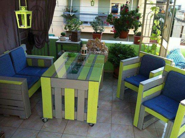 Artesania con palets cien ideas para amueblar reciclando - Disenos muebles pintados ...