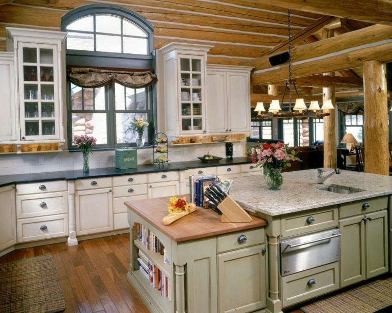 Decoraci n de cocinas r sticas 50 ideas originales - Cocinas blancas rusticas ...