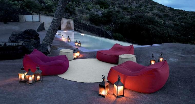 muebles rojos aptos interiores exteriores ideas