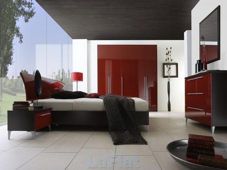 diseño muebles rojos acabado lacado