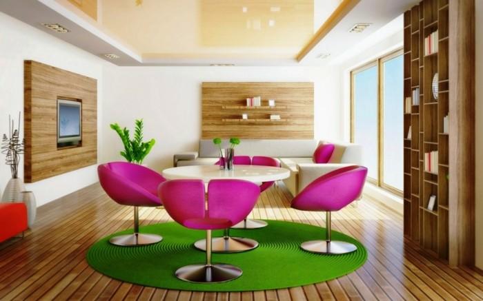 muebles rosa detalles creativo verde metales