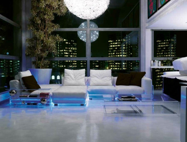 muebles salon luces indirectas led
