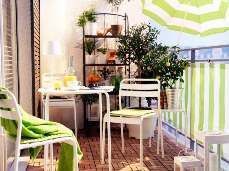 muebles terraza blancos metal exterior