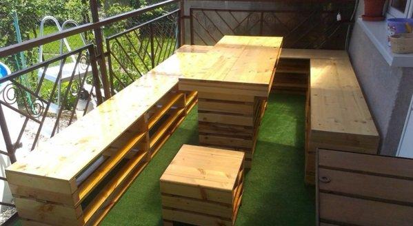 modulos madera palet terraza