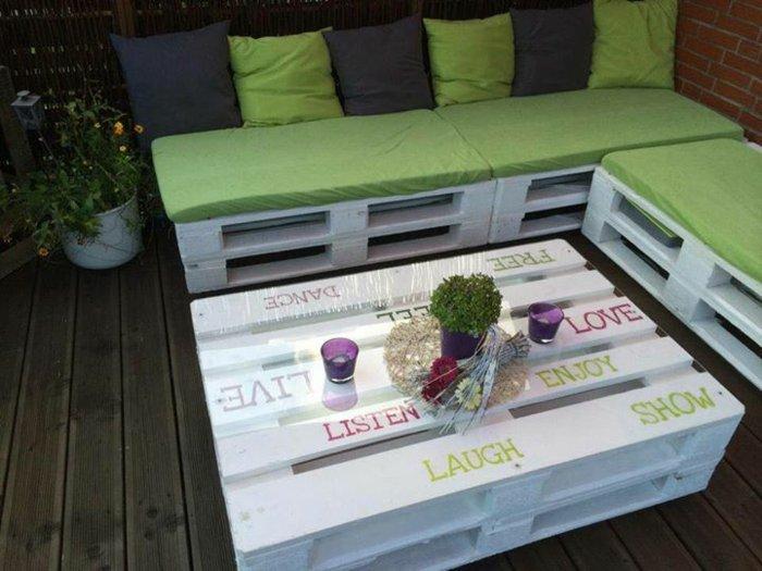 bonito diseño muebles terraza