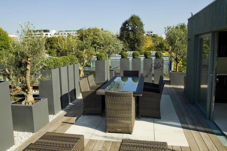 muebles terraza diseño rattan