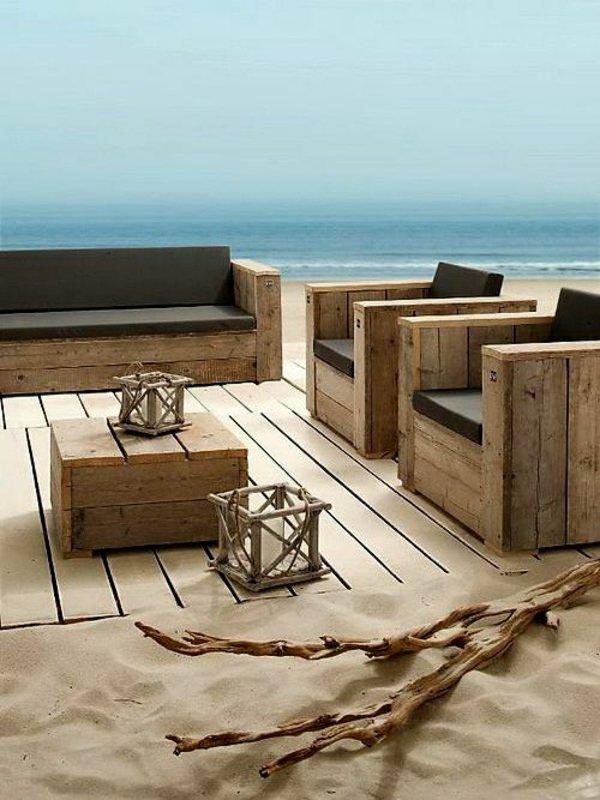 Artesania con palets cien ideas para amueblar reciclando for Muebles de terraza madera