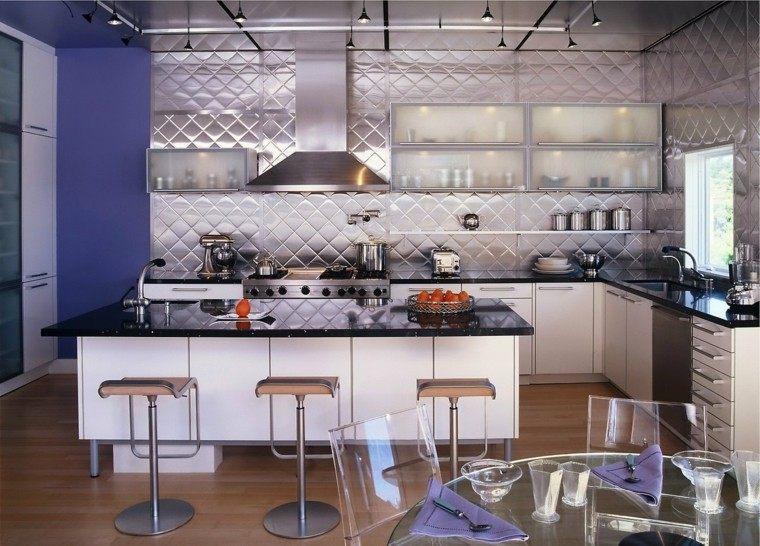 pared preciosa cocina diseno original ideas