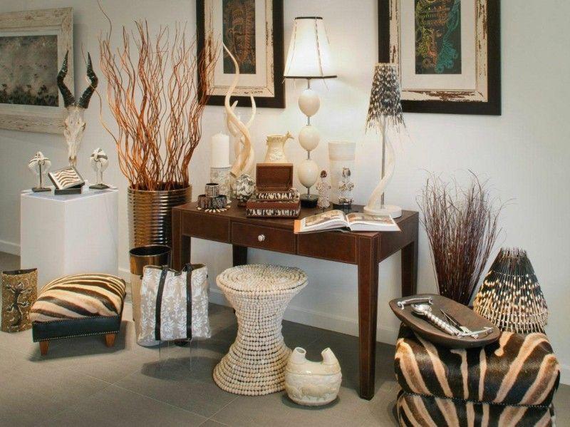 objetos cdecorativos estilo etnico safari