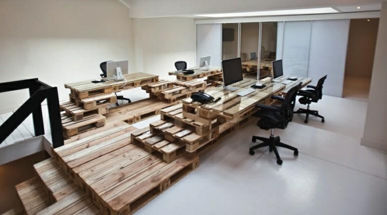 oficina muebles pallet deco madera
