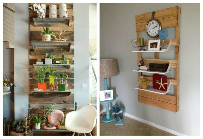 estantes decorativos pallet madera