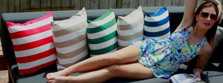 original design striped cushions