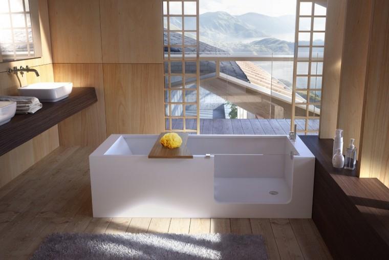 diseño bañera moderna rectangular