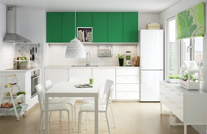 original diseño cocina blanco verde