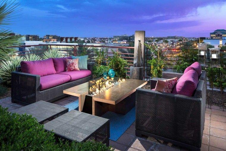 original conjunto muebles cojines rosa
