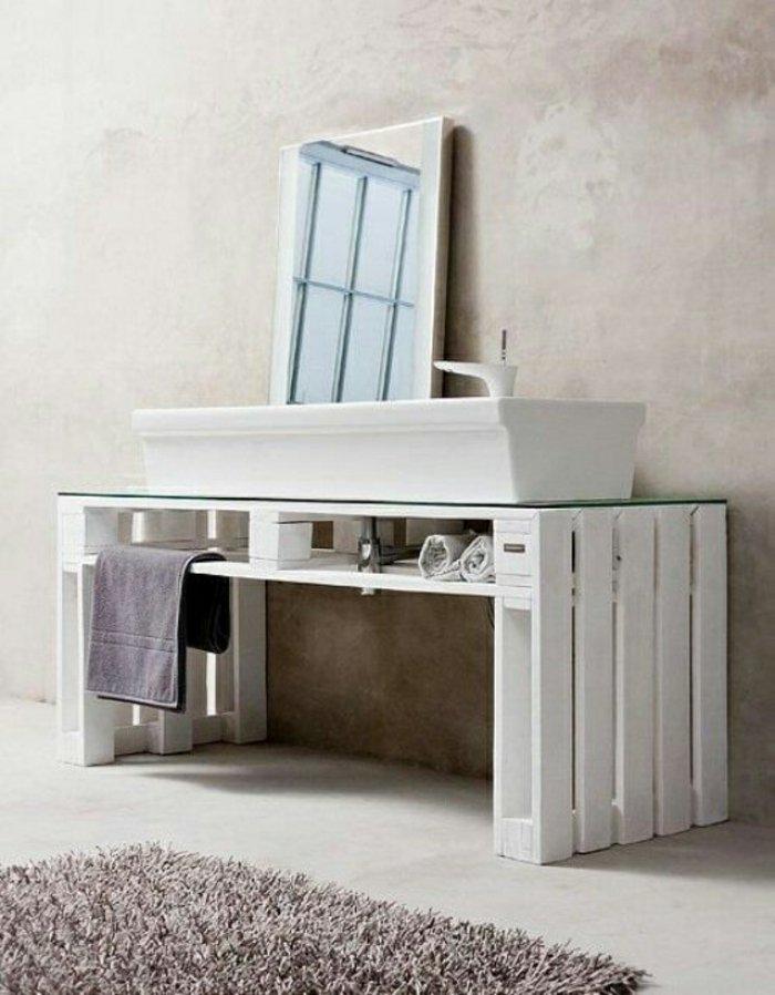 mueble lavabo pallet madera