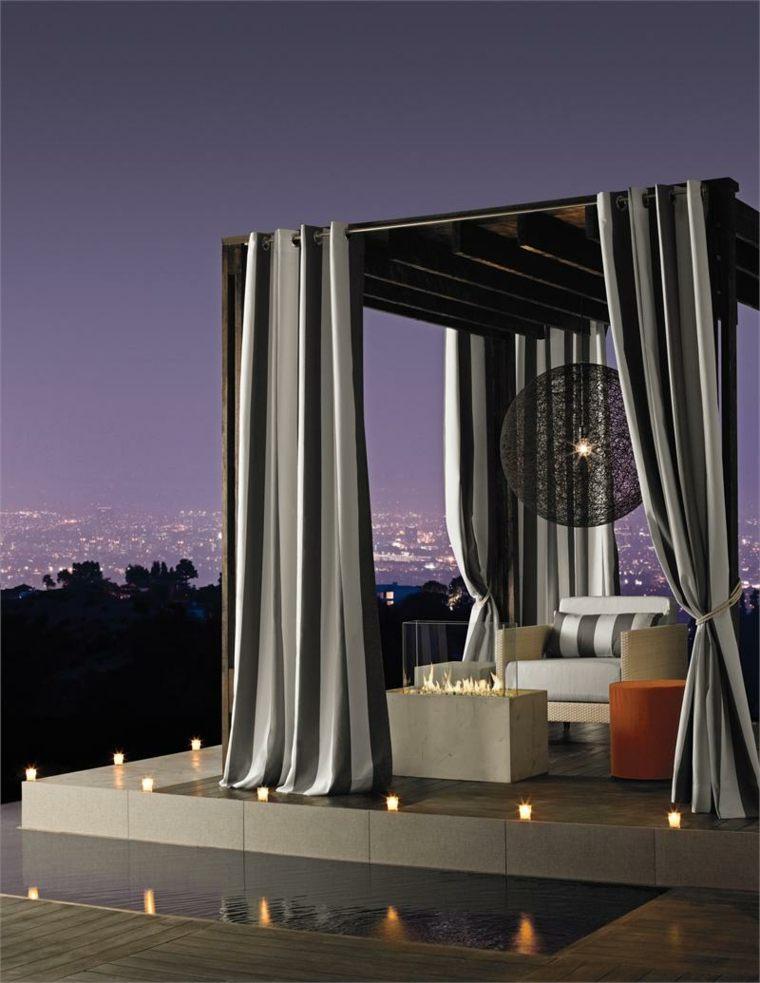 original design pergola curtains