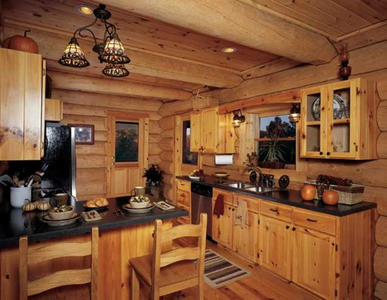 original diseño cocina rústica madera