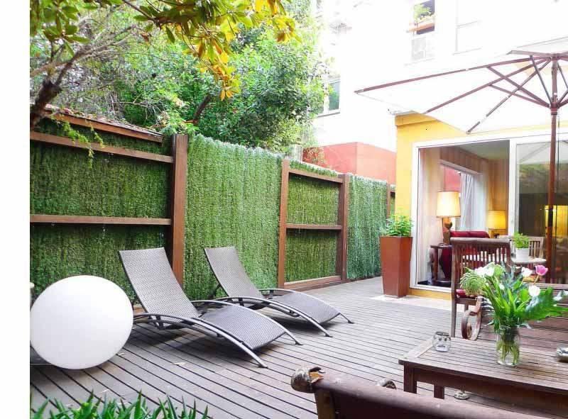 estupenda decoración moderna terraza